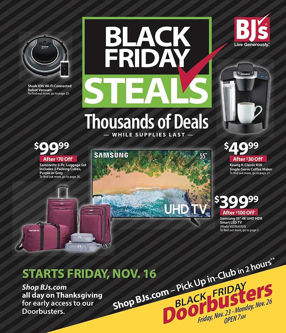 photo about Bjs One Day Pass Printable titled BJs Black Friday 2019 Advert, Offers and Profits
